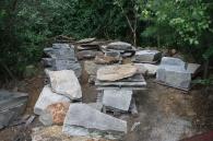 Large Granite Chunks and Flagging